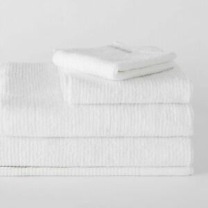 Living Textures Trenton Towel Collection by Sheridan WHITE