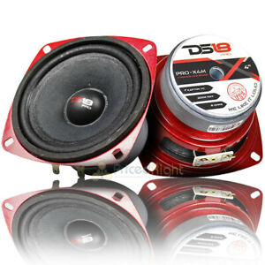 "2 Pack DS18 4"" Midrange Loudspeaker 200 Watts Max/100W RMS Car Audio PRO-X4M"