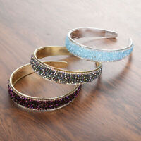 Women's Headband Fashion Hairband Crystal Wide Hair Band Hoop Hair Accessories