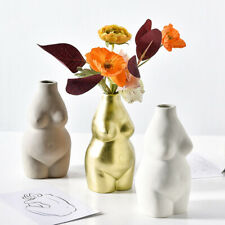 Female Body Vase Ceramic Art Tabletop Flower Pot Nordic Modern Home Decor