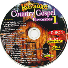 Karaoke CDG Chartbuster 3 Disc Set 5102  Country Gaspel favorites with song List