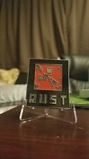 RUST FacePunch Challenge Coin Desk Decor with Stand