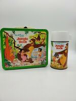 1966 DISNEY JUNGLE BOOK METAL LUNCHBOX  W/ Thermos
