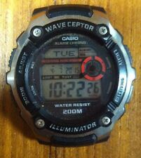 CASIO Wave Ceptor WV200A Illuminator World Time Alarm Chrono Water Resistant