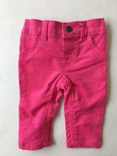NEW Carters Baby Girl Corduroy Pants Pink Size 3m
