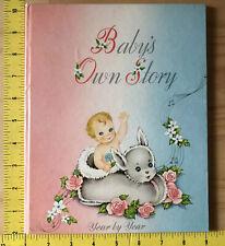 Vtg 1947 Baby Scrapbook Book Unused People's Life Ins. Co Washington Midcentury