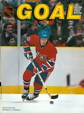 1985 Minnesota North Stars vs Montreal Canadiens Program: Mats Naslund on Cover