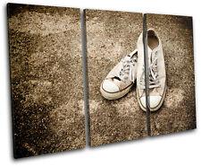 Lo Top Sneakers Vintage TREBLE DOEK WALL ART foto afdrukken