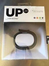 NEW Jawbone UP24 Black Medium Fitness Tracker - Damaged packaging