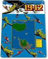 1942 Classic Airplane Capcom Arcade Marquee Game Room Wall Decor Metal Tin Sign