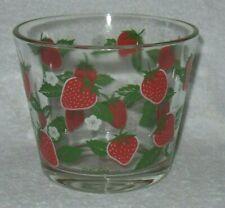Culver Strawberry Glass Ice Bucket