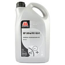 Millers Oils EP 80w-90 GL4 Gear Oil 80W90 GL-4 Transmission Fluid 5 Litres 5L