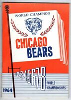 1964 Chicago Bears Football Media Guide, Bill George, Doug Atkins, Mike Ditka VG