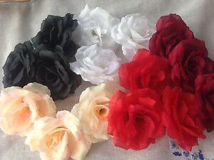 3 Artificial Simulation Silk Camellia Rose Flower Head 8 cm