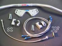 ABM Superbike Lenker Umbau-Kit Kawasaki GPZ  900 - R 83-89 - silber