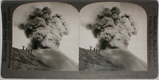 Keystone Stereoview of an Active Volcano, JAVA, D. E. I. from the 1920's 200 Set