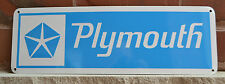 Plymouth Daimler Chrysler Blue SIGN Mopar Dodge Hemi Mechanic Shop Garage 10day