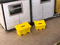 4x 3D PRINTED GRIT BINS SALT BOXES N GAUGE MODEL RAILWAY 1:148 SCALE AX056-N