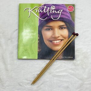Klutz Knitting Book by Anne Akers Johnson (Book & Wooden Needles Only)