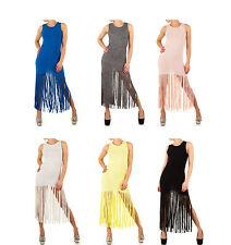 Festliche bodenlange Ärmellose Damenkleider mit Rundhals-Ausschnitt