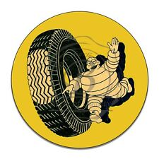 Vintage Michelin Man Tire Company Reproduction Circle Aluminum Sign