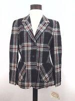 PENDLETON Lined Wool Jacket/Blazer Red Black Plaid NWT Vintage USA Women's Sz 16