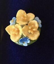 Fine Bone English Aynsley Vintage China Flower Pin Brooch New In Original Box