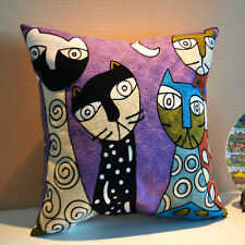 Cotton Artistic Square Cushion Covers Pillow Cases Home Decor Modern Vintage