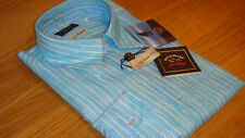 Paul & Shark 100 Linen Shirt Size Large in Blue SUPERB Quality Must See WOW