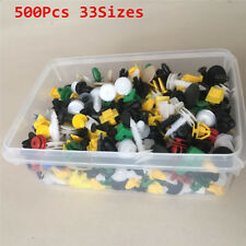 500pcs Mixed Car Trim Rivet Push Clip Door Panel Body Bumper Pin Fastener 33Kind