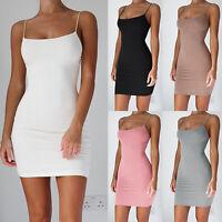 Womens Slip Evening Dress Sleeveless Bodycon Party Clubwear Short Mini Dresses