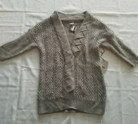 NWT Women's Neal Sperling Pull-Over Sweater ~ Sz Small ~ Gray ~Knit ~Wool Blend