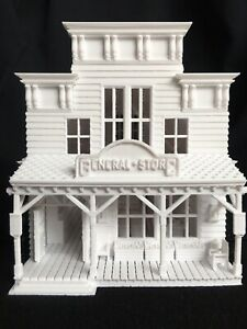 Miniature HO Scale Old West Frontier General Store Built Includes Interiors