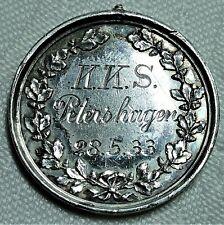 SILBER - Medaiile/Plakette vom 28.05.1933 der Schützen des K.K.S. Petershagen vz