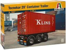 Camión 1:24 ITALERI 3887: container-trailer tecnokar 20'