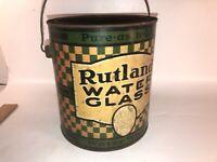 Vintage Gallon Pail Rutland Water Glass Can Keeps Eggs Fresh
