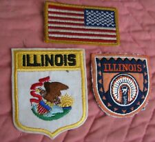 Illinois State -- 2 patch lot, appear older     (LOC = A-3)