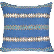 """hecho a mano Kilim Funda De Cojín 16"""" 40cm algodón indio Persa Marroquí Azul"""