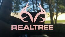 Realtree Decal Antler Logo Contour Cut Real Tree Pink Die-Cut Sticker