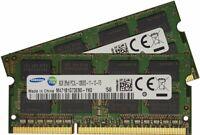 Samsung 16GB 2 x 8GB 204-pin SODIMM, DDR3 PC3L-12800, 1600MHz Ram M471B1G73EB0-Y