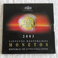 LITHUANIA 2003 6 COIN UNCIRCULATED SET - sealed pack