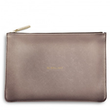 Katie Loxton Pouch Clutch Bag Metallic Rose Pewter - Be Brilliant