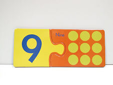 eeBoo Simple Puzzle Pairs Alphabet/Number Matching Game Replacement Number 9