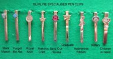 Woodturning Special Theme Pen Clips Slimline 7mm in GOLD