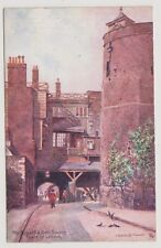 London postcard - The Byward & Bell Towers, Tower of London - Charles Flower P/U