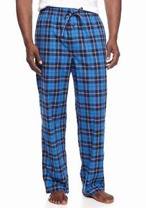 Saddlebred - NWT $30 - Men's S - Blue Plaid 100% Cotton Woven Sleep Pants
