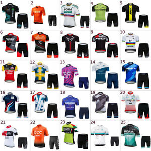 2021 Mens Cycling Jersey And Shorts Sets Cycling Clothing Bicycle Short Sleeve