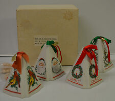 Set of Giftco Inc Ceramic Christmas Holiday Fragrance Potpourri Ornament