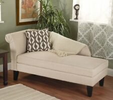 Beige Brown Storage Chaise Lounge Chaises Bench Lounges Settee Chair Tan Chairs