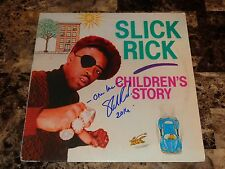 Slick Rick Rare Authentic Signed Vinyl LP Record Children's Story Rap Hip Hop